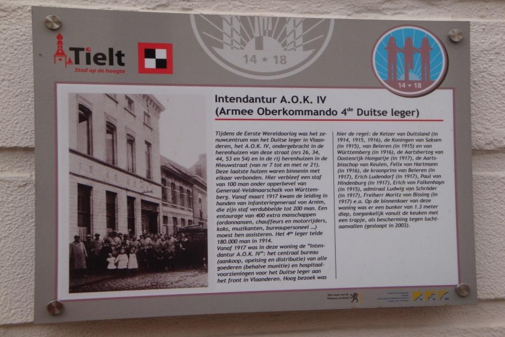 Headquarters Fourth German Army Tielt