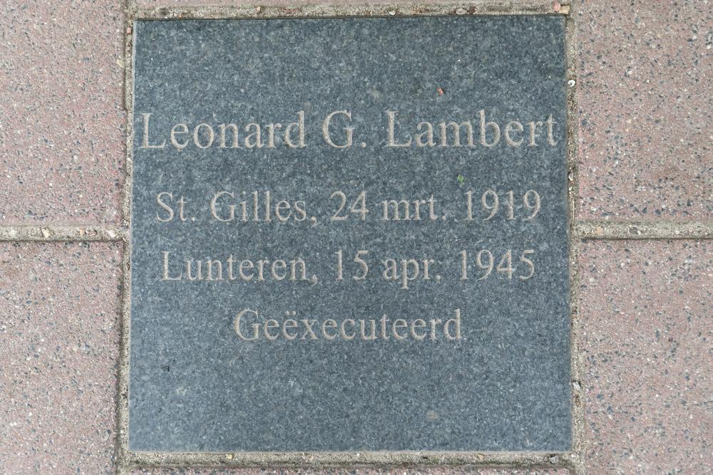 Gedenksteen Verzetsstrijder Gerard Lambert
