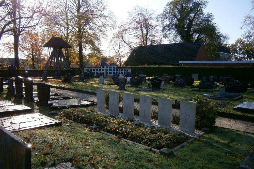 Commonwealth War Graves Protestant Churchyard Drachtstercompagnie