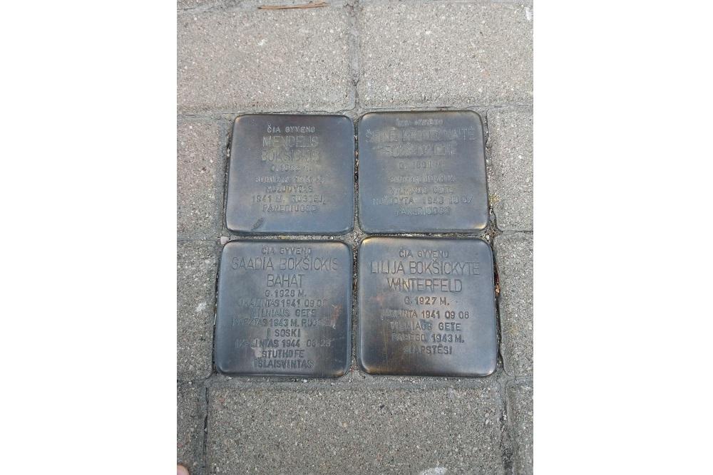 Stumbling Stones Vilniaus gatvė 27