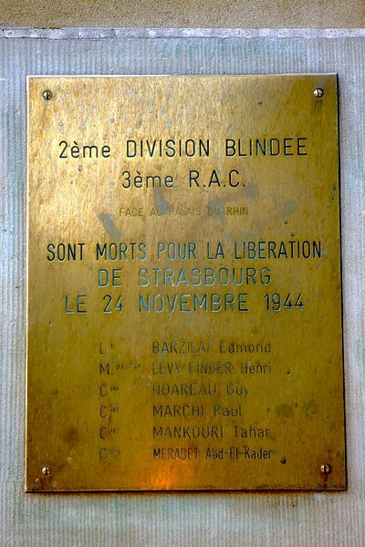 Plaque 2nd Division Blindée
