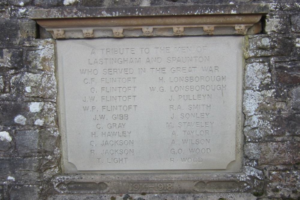 War Memorial Served Lastingham