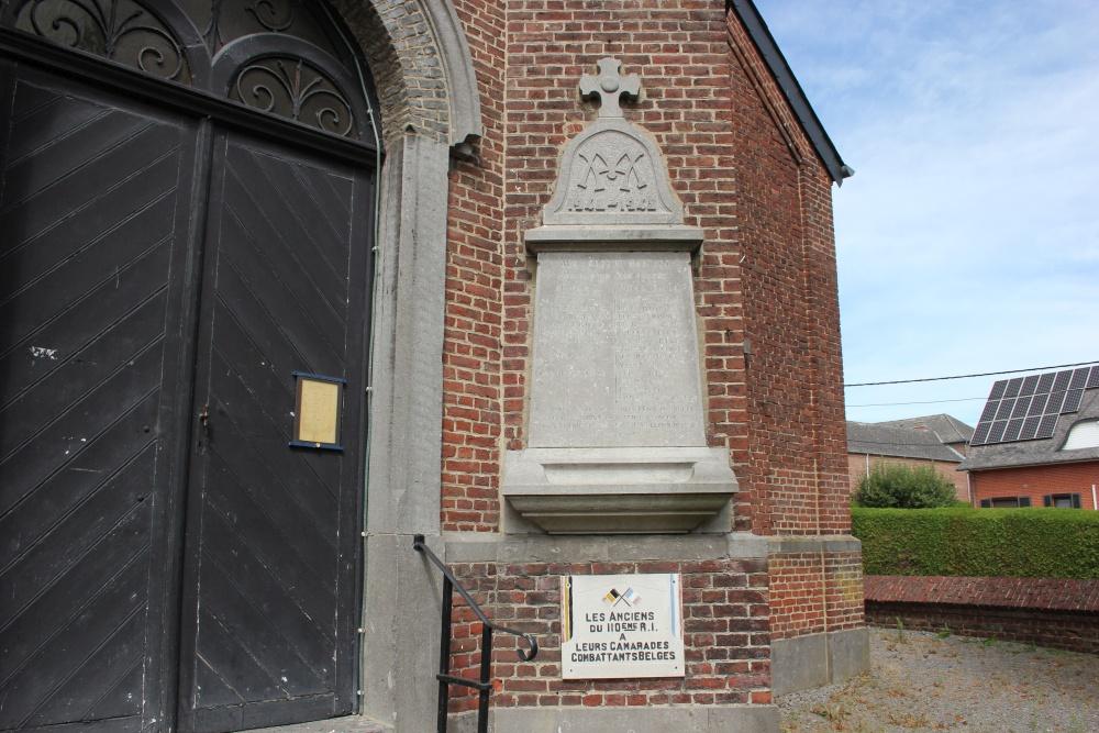 Gedenkplaat Tweede Wereldoorlog Villeroux