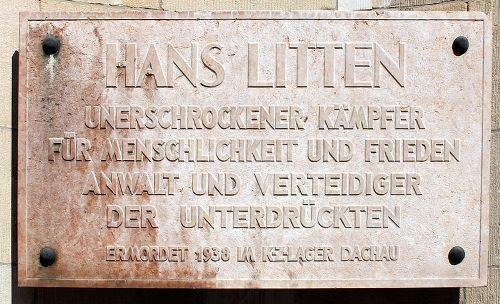Plaque Hans Litten