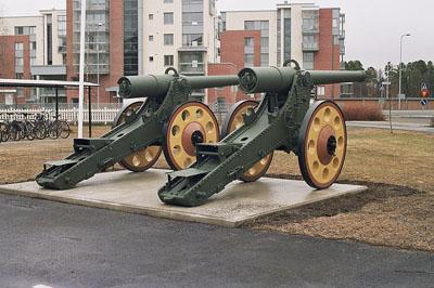 Franse De Bange 155mm Kanonnen