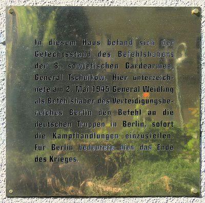 Plaque Capitulation Berlin