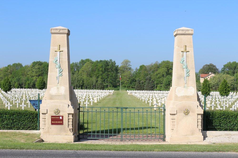 Franse Oorlogsbegraafplaats Bras-sur-Meuse