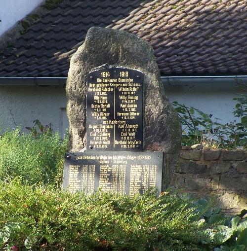 Oorlogsmonument Schönau