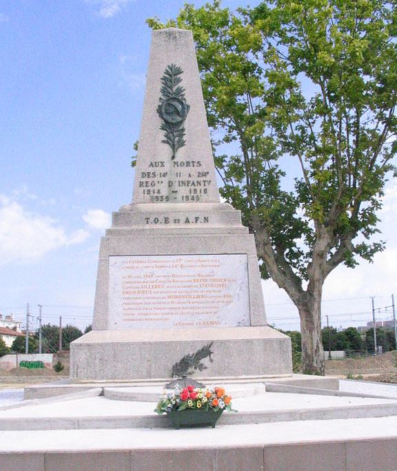 Monument 14e en 214e Régiment d'Infanterie
