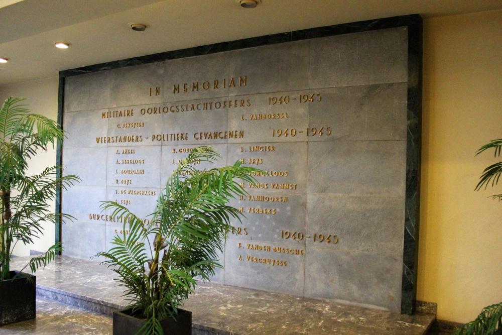 Commemorative Plaque Second World War Ostend