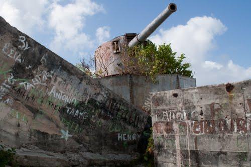 Japanse Kustbatterij & Bunkers