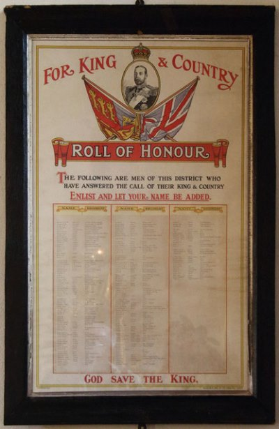 Roll of Honour St. Nicholas Church
