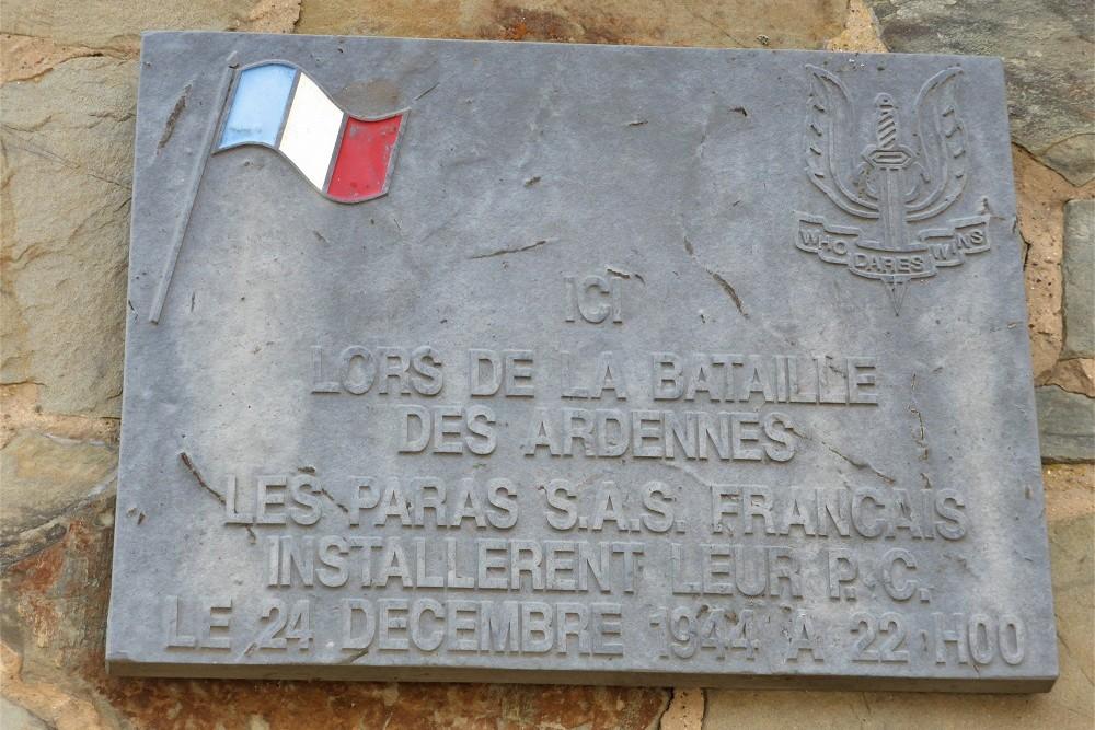 Gedenkplaat Franse Paratroepen