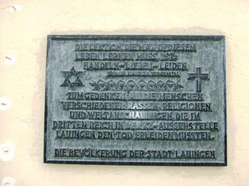 Plaque Camp Lauingen