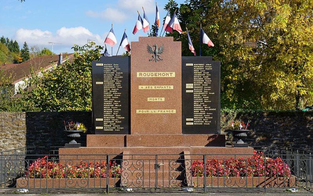 Oorlogsmonument Rougemont, Montferney, Chazelot en Morchamps