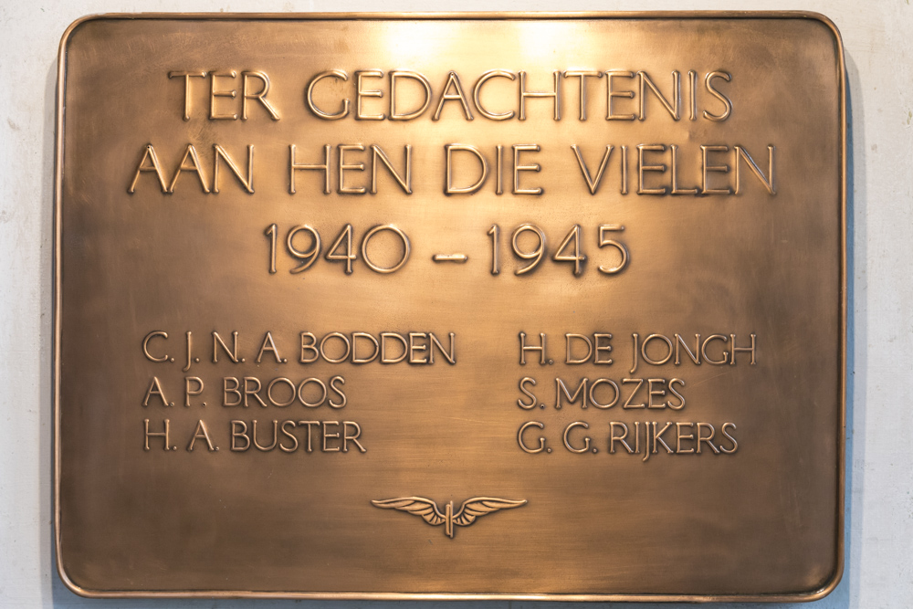 Plaquette Omgekomen NS-medewerkers Hoofdwerkplaats Tilburg