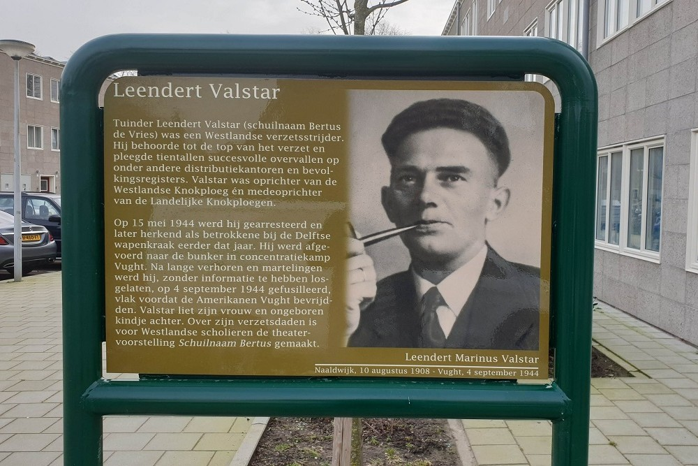 Herdenkingsborden Slotermeer Leendert Valstarhof