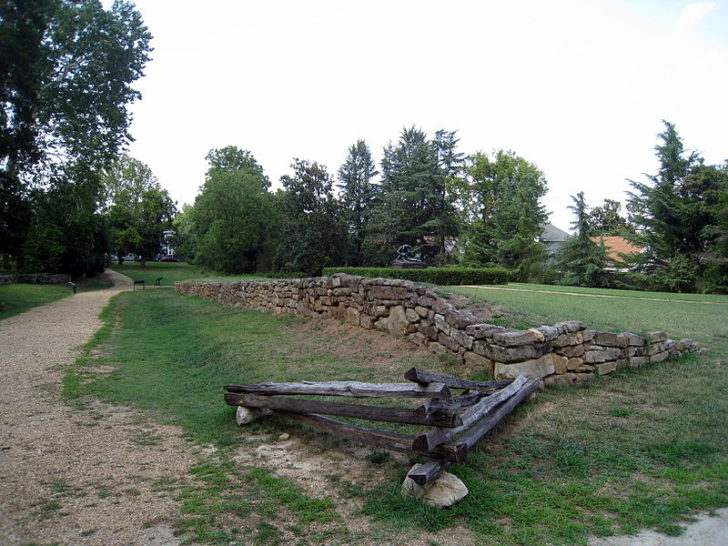 Stone Wall at Sunken Road