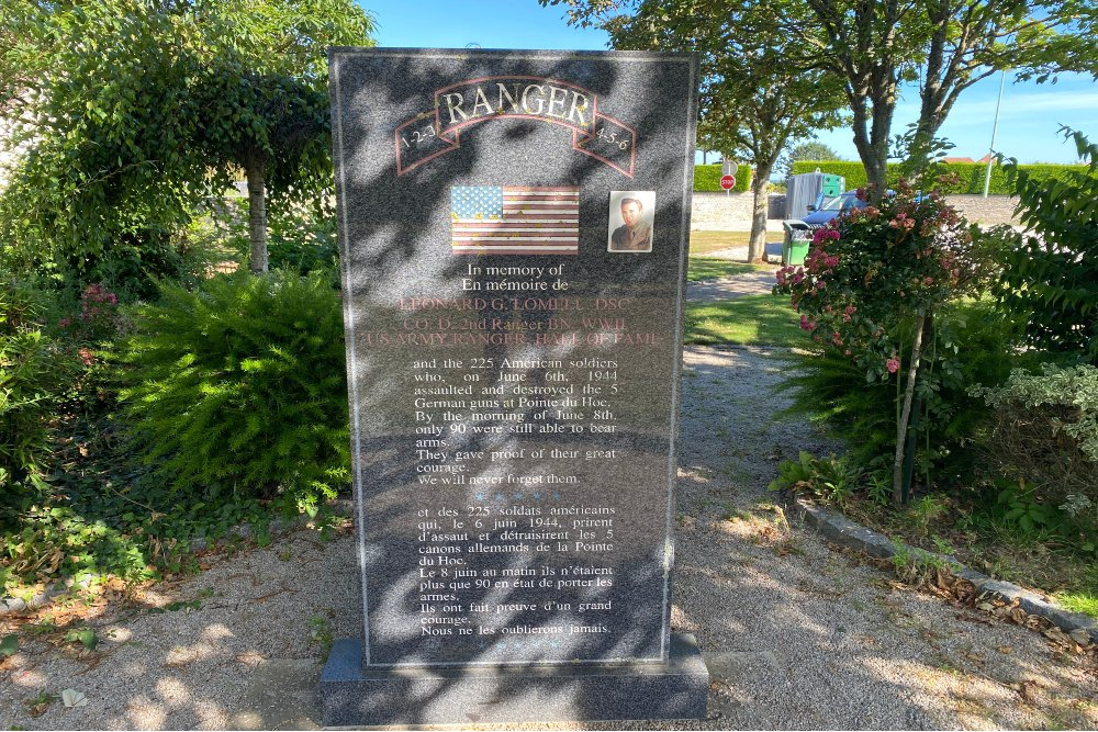 2nd Ranger Battalion Monument