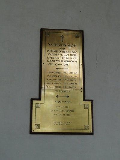 War Memorial St Andrew Church