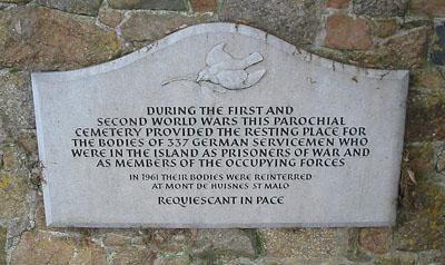 Plaquette Voormalige Begraafplaats Duitse Soldaten