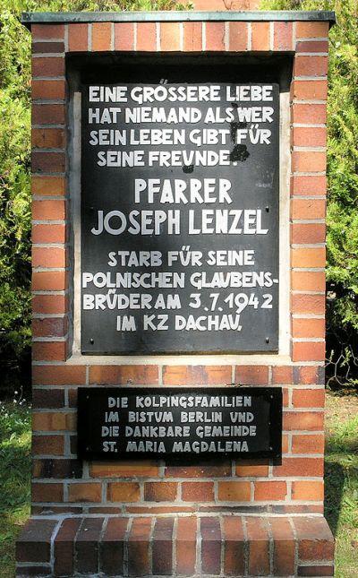 Plaque Joseph Lenzel