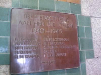 Plaque Killed Railway-Employees Maastricht