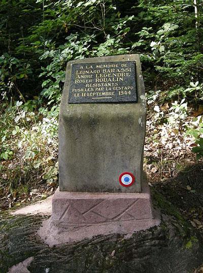 Fusillade Monument La Chapelotte