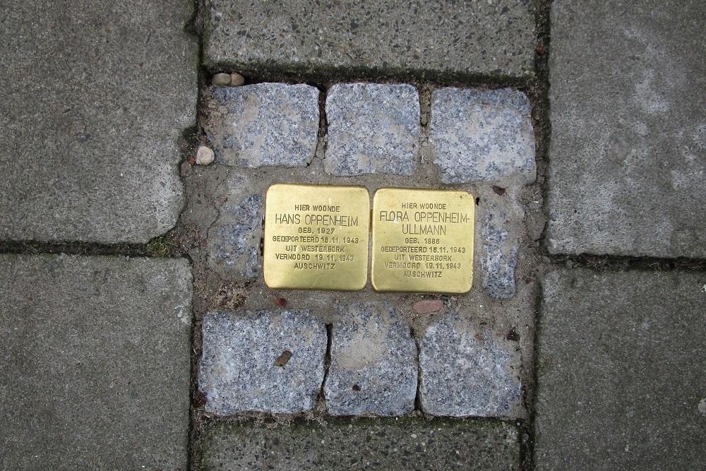 Herdenkingsstenen Zuidelijke Burgvlietkade 11