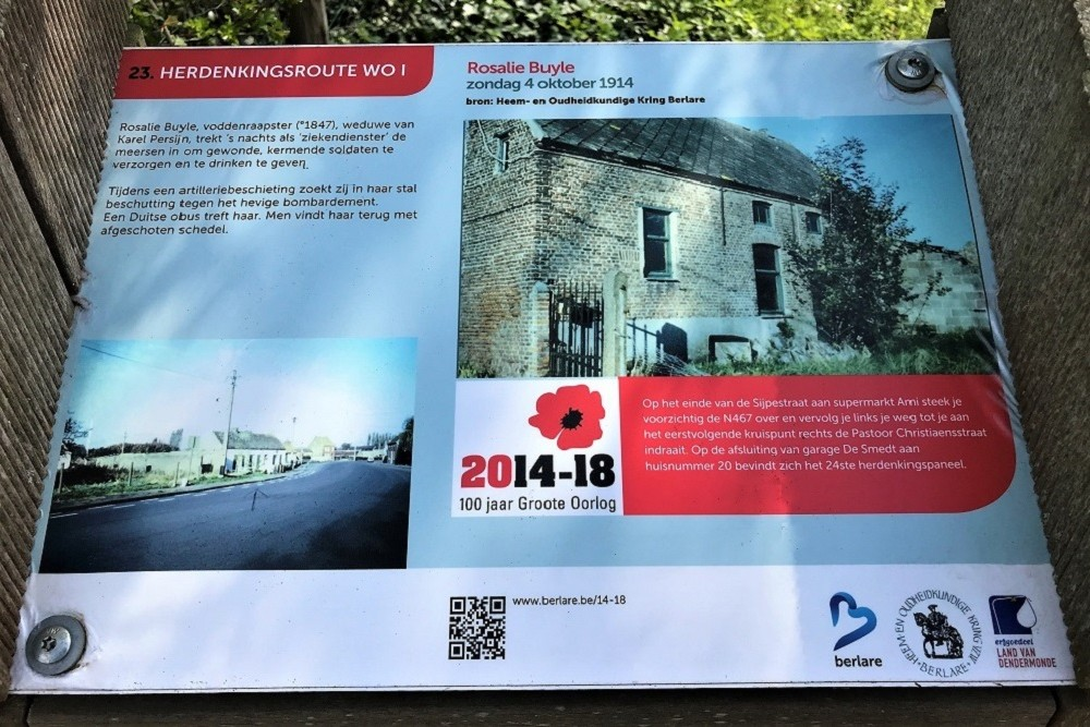 Herdenkingsroute 100 jaar Groote Oorlog - Informatiebord 23