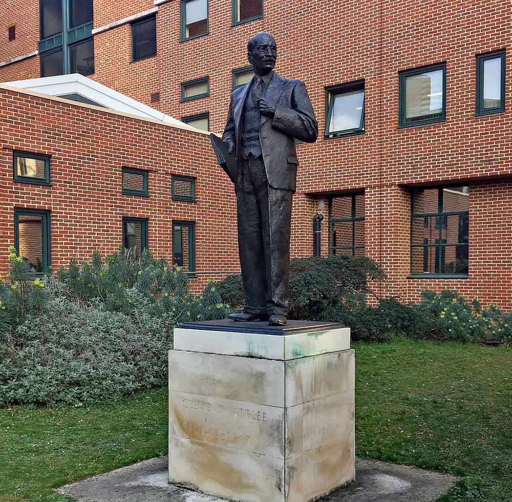 Monument Clement Attlee Queen Mary University of London