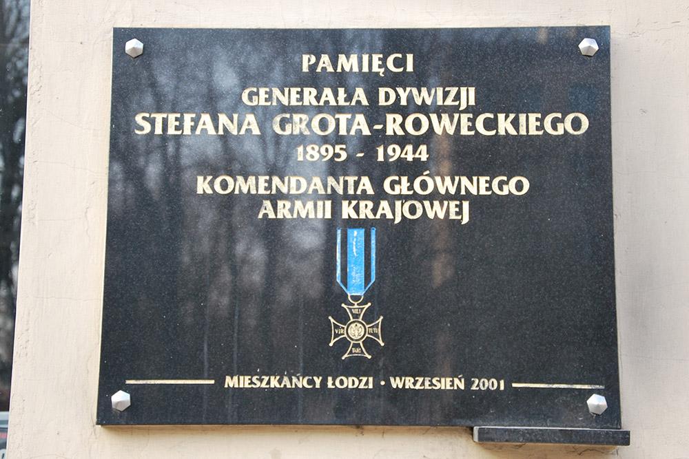 Plaquette Generaal Stefan Rowecki