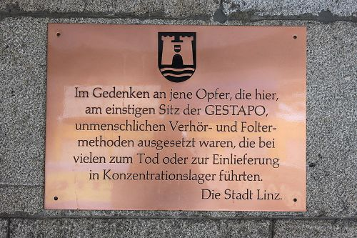 Plaque Gestapo