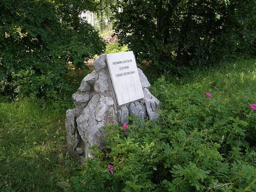 Memorial Stone Lavochkin La-7 Babice nad Svitavou