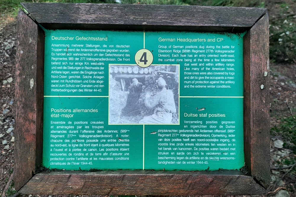 Herinneringsplaats Hasselpath Positie 4. Duitse staf posities