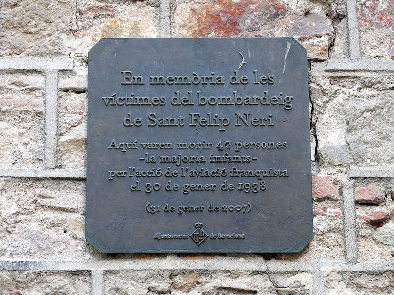 Plaque Victims Air-Raid 30 January 1938