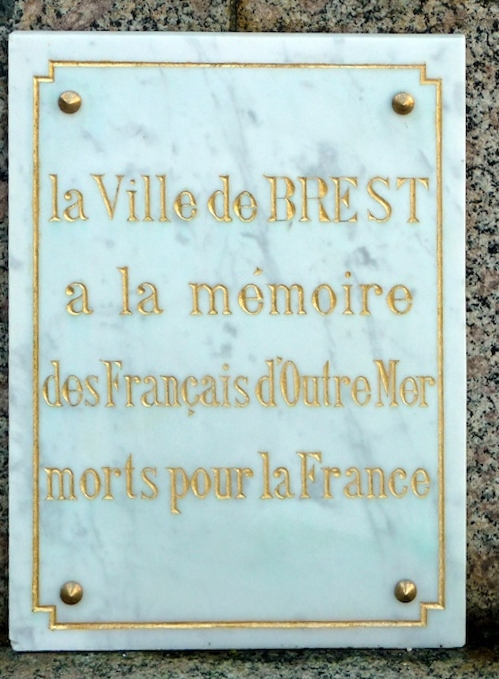 Plaque Overseas French Brest