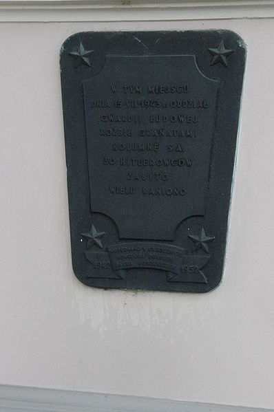 Plaquette Aanslag op SA Mars 1943