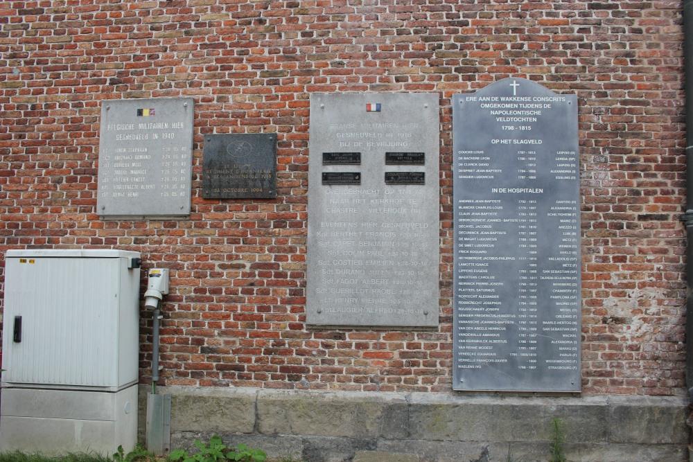 Gedenkplaat Gesneuvelde Belgische Soldaten Wakken