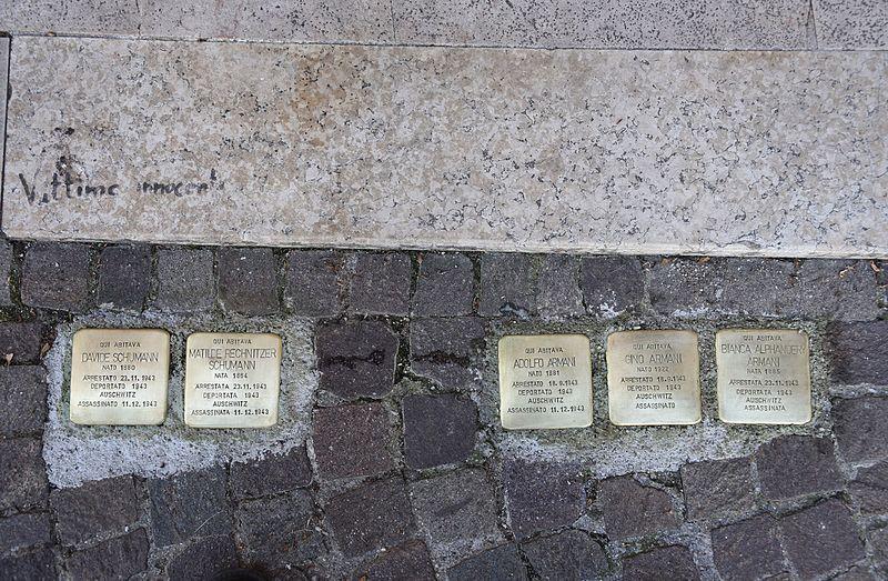 Stumbling Stones Via Graziadio Isaia Ascoli 25