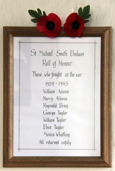 Roll of Honours St. Michael Church