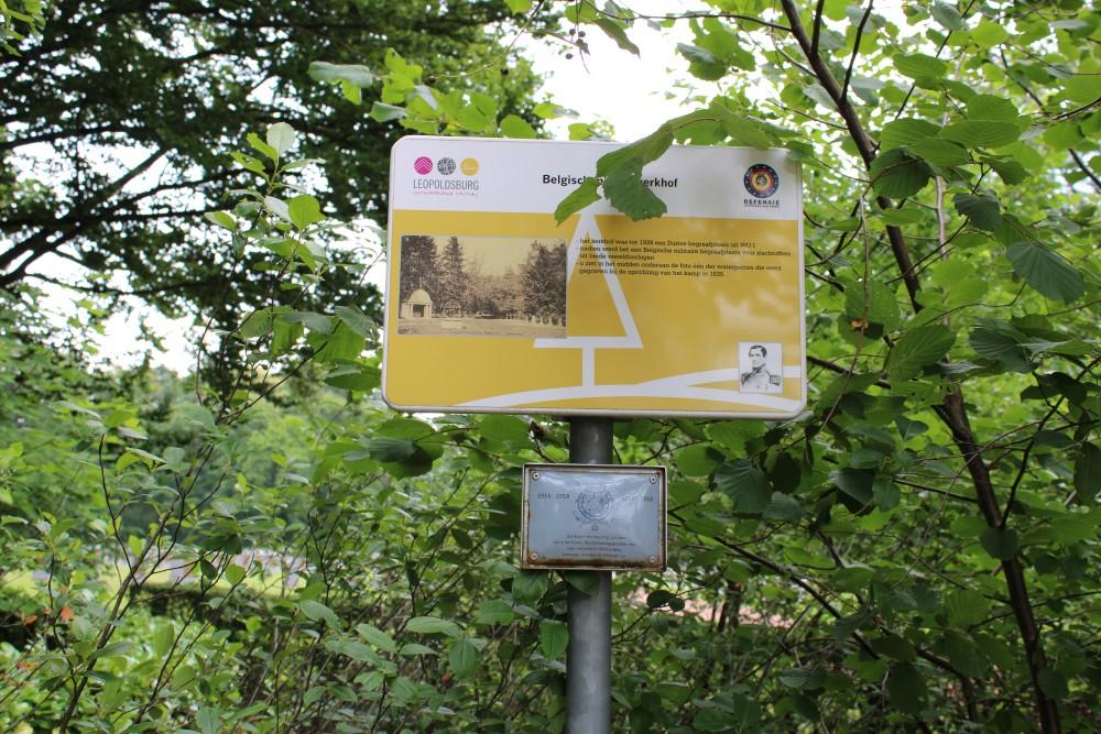 Plaque Centennial First World War Leopoldsburg