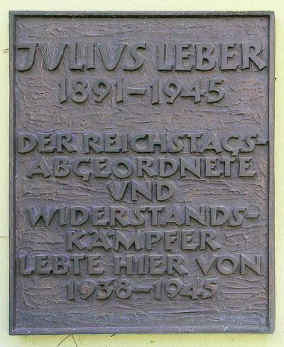 Plaque Julius Leber