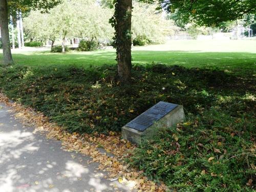 Plaque Anne Frank Aachen