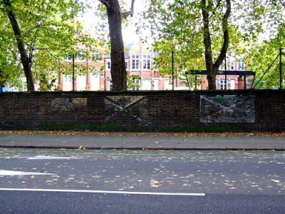 Aanduiding Noodvoorziening Water Peckham Road