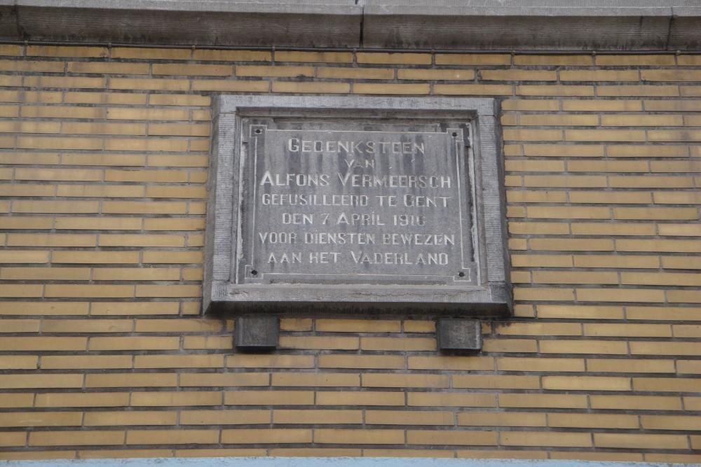 Commemorative Plate Executed Civilian Tielt