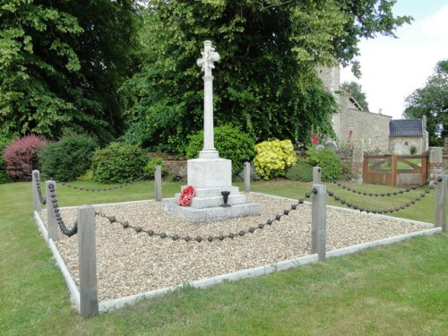 War Memorial Weston Longville