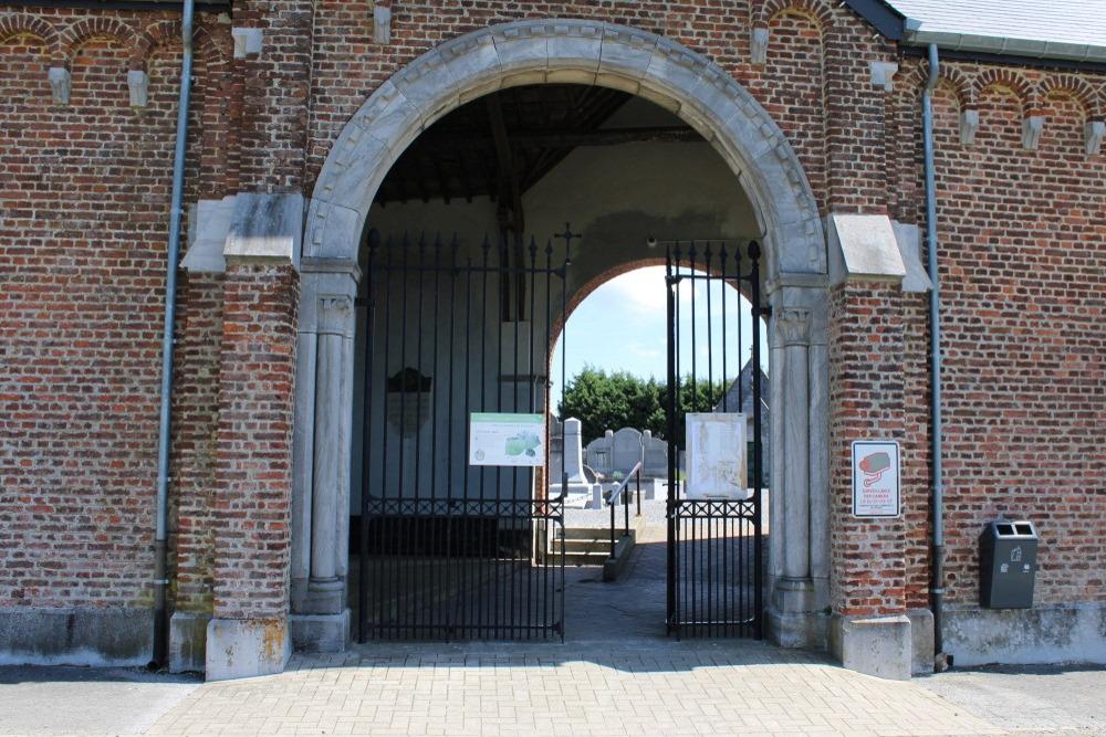 Gedenkplaten Begraafplaats Vinalmont