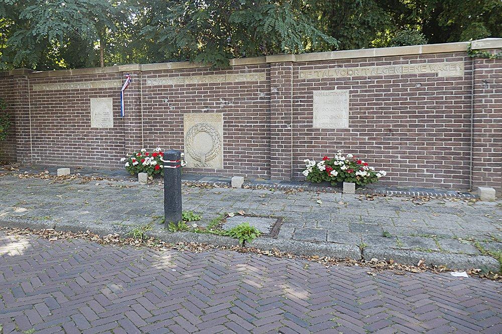 Monument en Kogelinslagen Executie 20 Maart 1945