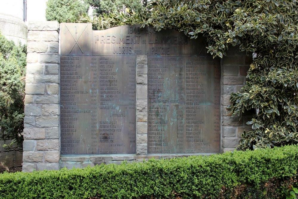 Monument 1ste Regiment Lansiers Spa